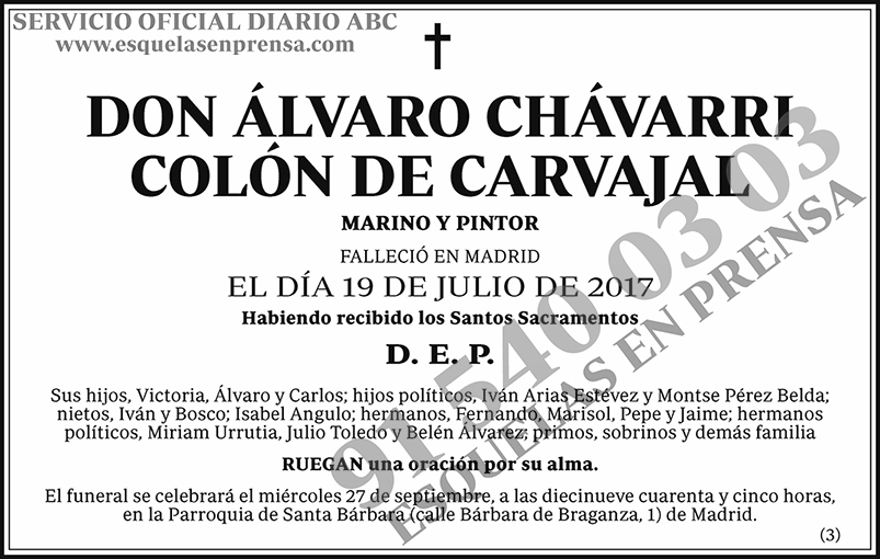 Álvaro Chávarri Colón de Carvajal